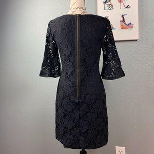 Adrianna Papell Black Lace Midi Dress Size 6